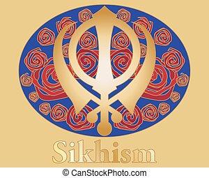 rose sikh symbol