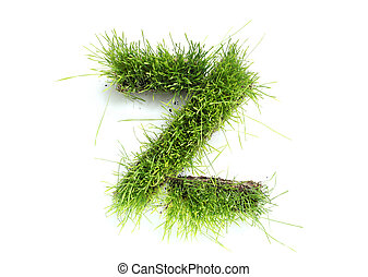 Letters made of grass - Z