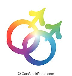 Gay Love Symbol Rainbow Colors