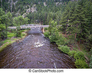 Poudre River aerial view