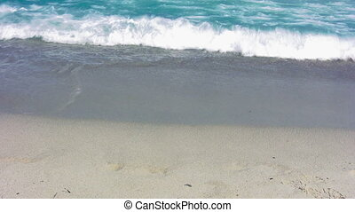 Waves on sandy beach 8