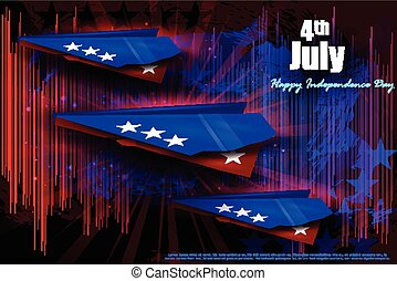 Fourth of July, Independence day America - easy to edit...