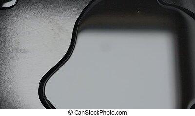 Magic hand. Horror Movie Scene - Reflection in the liquid....