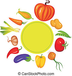 vegetable set - vector illustration of a vegetable set