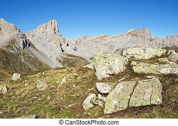 Pyrenees - Aiguilles du Ansabere in Lescun Cirque. Aspe...