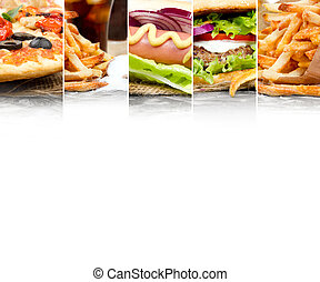 Fast Food Mix - Photo of mix stripes with various kinds of...