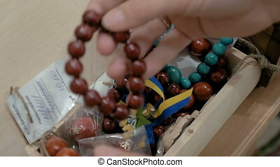 Bracelets made out of wooden beads fit for all - Several...