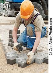 sidewalk pavement construction works