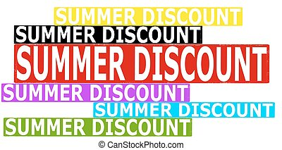 Summer discount - Rubber stamp with text summer discount...