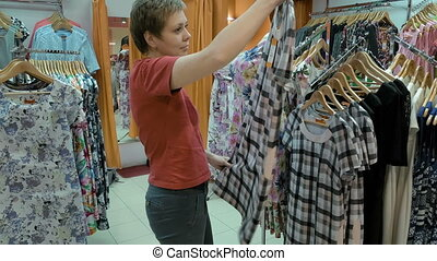 Clothing store with variety number of merchandise - A...