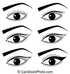 Eye make up with use of  Eyeliner