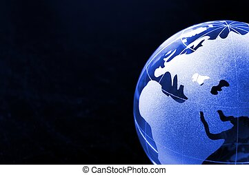global business on black - global business or eco concept...