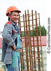 happy builder construction worker