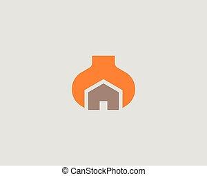 House repair service tool shop sign logotype. Creative idea wrench home icon vector mechanic logo symbol.