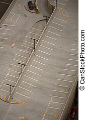 parking place - aerial view of a parking place on a roof