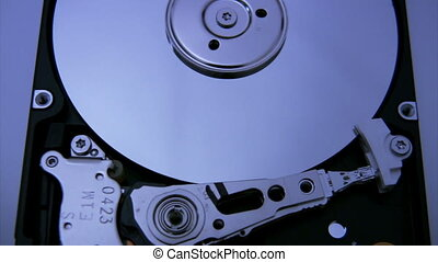 Hard Disk Drive closeup 6 zoom - Hard Disk Drive closeup 6