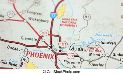 Push pin in Phoenix - Map of Phoenix, Arizona
