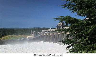 Bonneville Dam - Hydroelectric dam in the Columbia River...