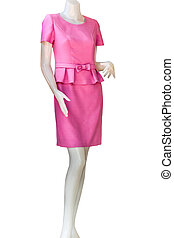 Thaidresses isolate white background with clippingpath -...
