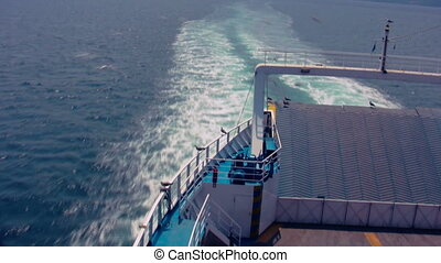 Ferry Moving 01 Time Lapse