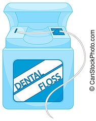 Box of dental floss illustration