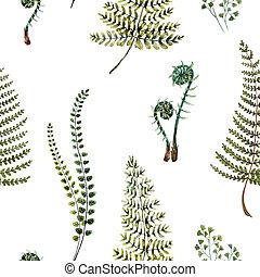 Watercolor fern pattern - Beautiful pattern with nice...