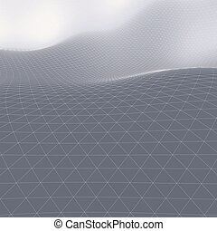 Abstract Landscape Background Mosaic 3D Wireframe Terrain...