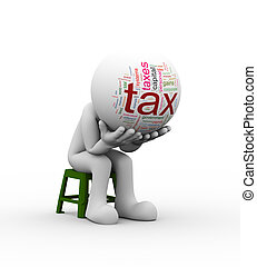 3d frustrated man need tax help