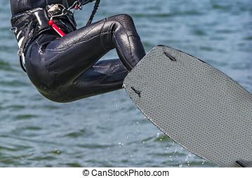 Kitesurfer - A kitesurfer in lake como