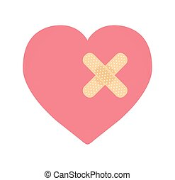 a heart with bandage