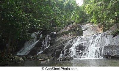 Ton Ngan Chang waterfall, Thailand clip