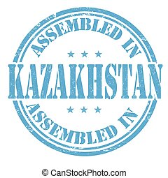 Assembled in Kazakhstan stamp - Assembled in Kazakhstan...