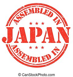 Assembled in Japan stamp
