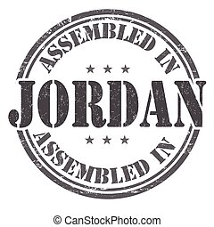 Assembled in Jordan stamp - Assembled in Jordan grunge...