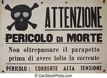 Italian danger sign