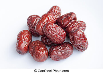 Dried jujube fruits, Chinese dates, which naturally turn red...