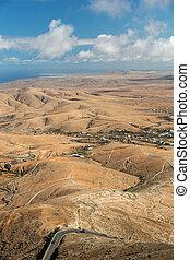 Panoramic view on Fuerteventura from Mirador Morro Velosa, -...