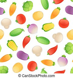 Seamless Pattern with Vegetables - Seamless pattern with a...