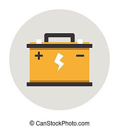Car battery flat icon Car repair service icon