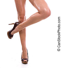 Long legs - Beauty long sexual legs of young woman in shoes