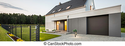 Stylish family house at quiet area - External view of...