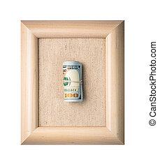 Dollar on the frame