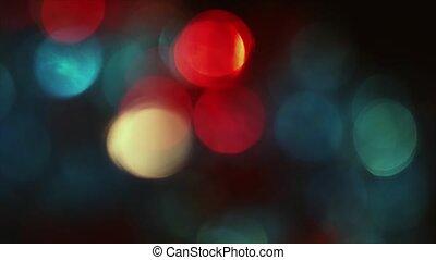 4K Pulsating Of Focus Circular Bokeh Red and Blue