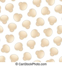 Seamless Background with Mushrooms - Seamless background...