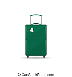 Travel Trolley Suitcase Isolated on White