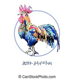 new year celebration chinese zodiac signs with decorative...