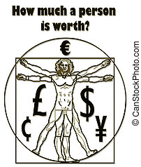 Vitruvian Man - The Vitruvian Man and a question the money