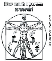 Vitruvian Man - The Vitruvian Man and a question (the money)