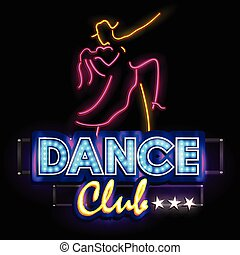 Neon Light signboard for Dance Club