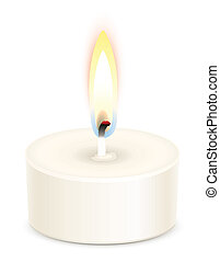 Tealight candle - White tealight candle isolated on white